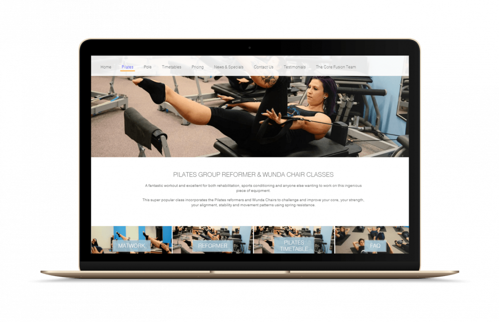 corefusion pilates compressor